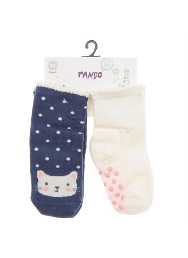 Panço Kız Bebek 2 li Çorap 1813628108 Renksiz